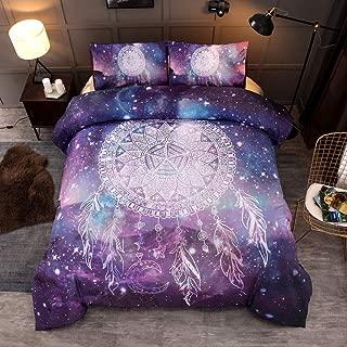 Helehome Galaxy Bedding Dream Catcher Duvet Cover 3 Pieces Mandala Bohemian Bedroom Bedding Collections Queen