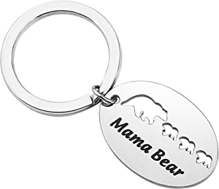 Bear Family Keychain Mama Papa and Baby Bears Keychain Gift for Dad Mother