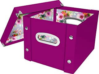 Snap-N-Store Storage Box with Lid, Assembled - 10 H x 8 W x 11.25 L Inches, Berry (SNS03328)