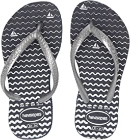 61b905d65 Havaianas slim logo pop up flip flops navy blue pink