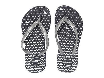 Havaianas Kids Slim Oceano Flip-Flop (Toddler/Little Kid/Big Kid) (Navy Blue) Girls Shoes