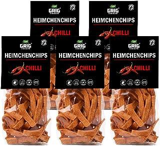 GRIG Protein Chips aus Insektenmehl Geschmacksrichtung Chilli Gesunde Zutaten – keine Zusatzstoffe, keine Aromen,keine Geschmacksverstärker 5x 70gr42,71Euro /Kg