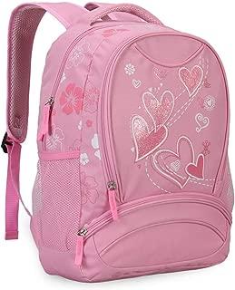 Hynes Eagle Sweetheart Pattern Backpack Pink