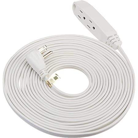 ClearMax 3 Prong Extension Cord with Multiple Outlets, Heavy Duty 3 Outlet Extension Cord Power Outlet for Use in Home, Garage or Workshop, 16 AWG Indoor Extension Cord White, 12 Feet