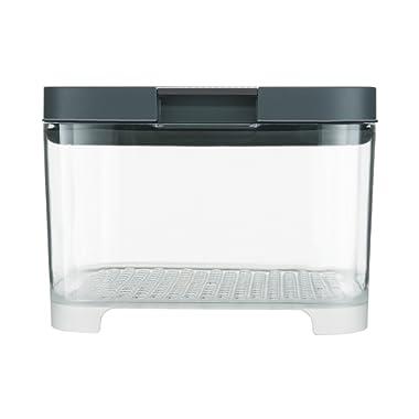 Rubbermaid FreshWorks Countertop Food Storage Produce Saver, Single, Clear/Grey