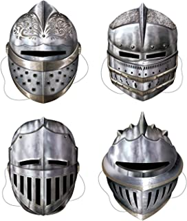 Beistle 66802 Knight Masks Party Accessory , Multicolored, 4-pcs   Pkg of 1