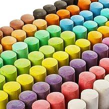 144 Pack 18 Colors Jumbo Sidewalk Chalk Set, Washable Art Play For Kid and Adult, Paint on School Classroom Chalkboard, Ki...