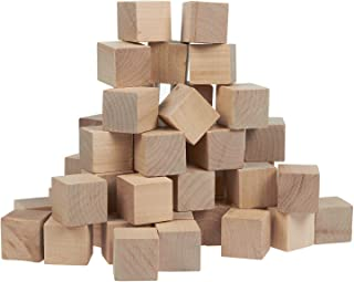 Juvale Small Wooden Craft Cubes - Unfinished Natural Wood / Mini Wooden Art Craft Stacking Cubes Blocks - 50 Pack -1 Inch, 2.54 Centimeter