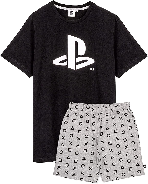 PlayStation Pyjamas Mens T-Shirt With Long OR Short Trousers PJS