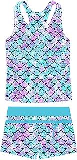 Belovecol Girls Swimsuits Two Piece Tankini Bathing Suits Boyshort Summer Beach Rash Guard Swimwear for 4-13T