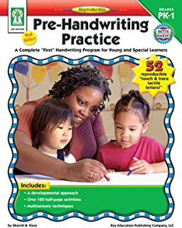 """Pre-Handwriting Practice, Grades PK - 1: A Complete """"First"""" Handwriting Program for Young and Special Learners"""