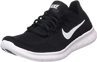 Nike Women's Free RN Flyknit 2017 Running Shoe Black/White-Black