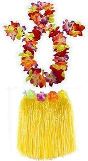 1 Set 40cm Kids Party Hawaii Dress Hula Grass Skirt - Double Layer Thickened Hawaii Skirt