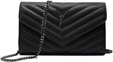 Simple Women Small Vegan Leather Crossbody Bag Quilted Shoulder Purse With