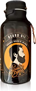 HARVEST BEARD Premium Beard Oil - Best Natural Mens Beard Oil Product to make Gentleman Grow Hair Soft with Moisturizer, Vitamins and Facial Care to Leave Beards Strong, Polished and Thick (Bay Rum)