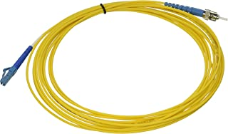 C2G / Cables to Go 34817 LC/ST Plenum-Rated Simplex 9/125 Single-Mode Fiber Patch Cable, Yellow (19.69 Feet/ 6 Meter)