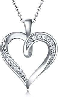 Best silver love heart necklace Reviews