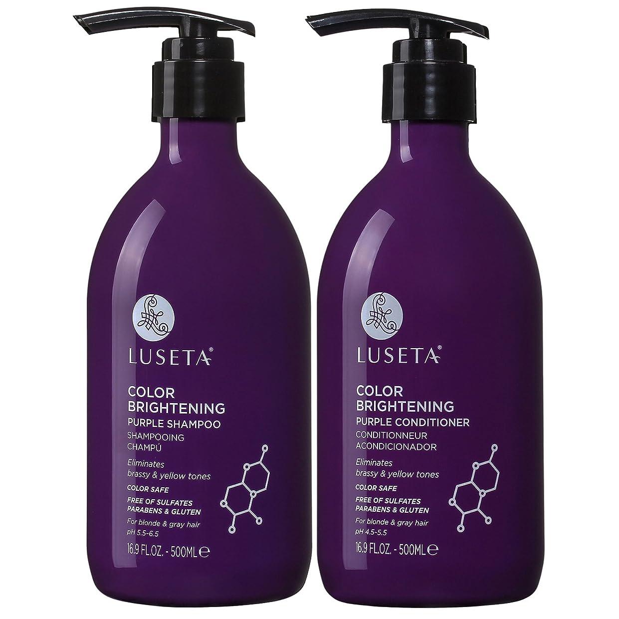 中世の承知しましたジョイントColor Brightening Purple Shampoo and Conditioner Set for Blonde and Gray Hair 16.9oz x 2