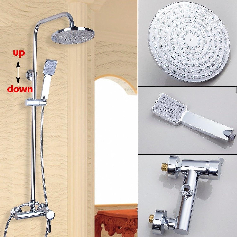 Luxurious shower Mode in poliertem Chrom Bad & Dusche Regen Wasserfalldusche Set hot Mischer Hahn tippen Sie Chuveiro Torneira Mischbatterie