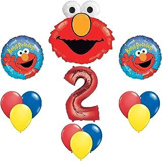 Elmo Sesame Street 2 2nd Second Birthday Party Supply Balloon Mylar Latex Set By Anagram