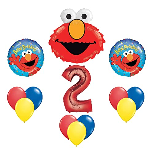 Elmo Sesame Street 2 2nd Second Birthday Party Supply Balloon Mylar Latex Set By Anagram