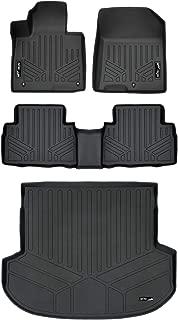 MAXLINER Custom Fit Floor Mats 2 Rows and Cargo Liner Trunk Set Black for 2019 Hyundai Santa Fe 5 Passenger Models