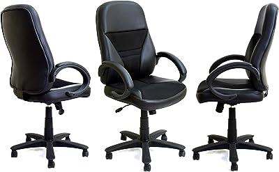 Daintree TimberTaste 3 Pcs Ergonomic Eco Black Directors, Executive, Boss, Conference High Back Office Chair (Set Of 3)