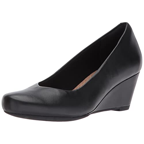 Clarks Womens Flores Tulip Wedge Pump