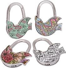 BMC 4pc Various Design Pattern Shoulder Handbag Folding Purse Hangers Hook Set
