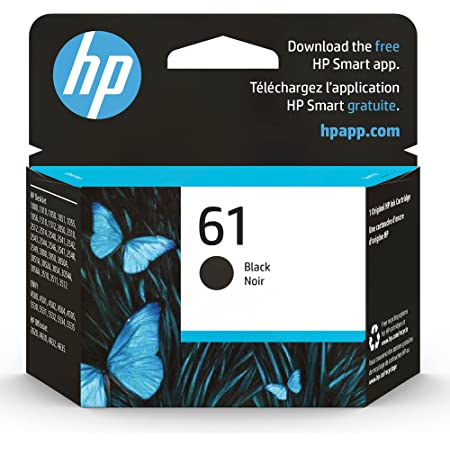 Original HP 61 Black Ink Cartridge   Works with DeskJet 1000, 1010, 1050, 1510, 2050, 2510, 2540, 3000, 3050, 3510; ENVY 4500, 5530; OfficeJet 2620, 4630 Series   Eligible for Instant Ink   CH561WN