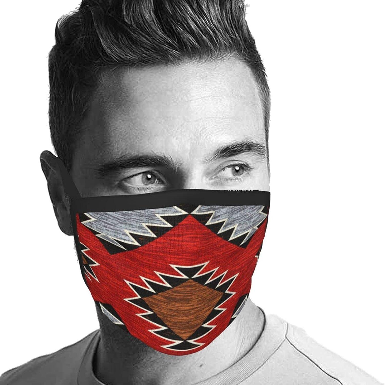 Balaclava Earmuffs Native American Dakota Southwestern Geometric Face Mouth Cover Mask Reusable Windproof Scarf Towel Cover Headwrap