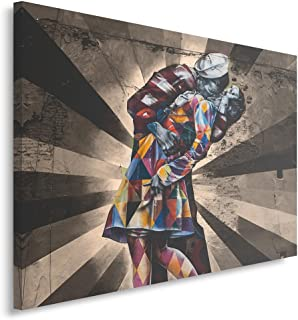 Feeby Cuadro en Lienzo - 1 Parte - 50x70 cm, Imagen Impresión Pintura Decoración Cuadros de una Pieza, Graffiti, Moderno, Marrón