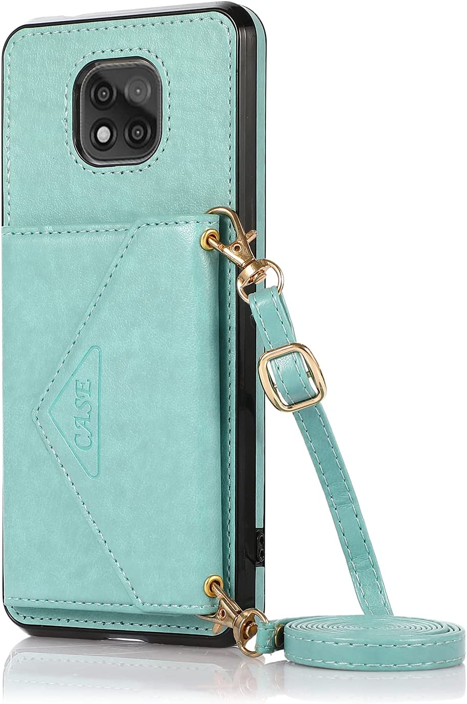 DAMONDY for Moto G Power 2021 Wallet Case,Moto G Power 2021Flip Case, Slim Protective Case with Credit Card Slot Holder Flip Folio Soft PU Leather Magnetic Closure Cover for Moto G Power 2021 -Mint