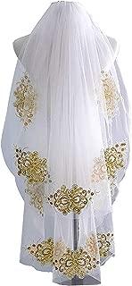 Best wedding veils with gold trim Reviews
