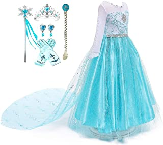 Romy's Collection Blue Snowflake Party Dress