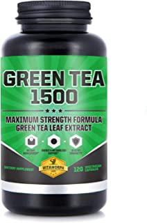 Sponsored Ad - Green Tea 1500 - Egcg Green Tea Extract Supplement, Maximum Strength Egcg Green Tea Extract Capsules for a ...