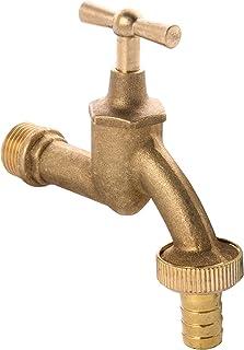 """Wasserhahn mit Schlauchverschraubung G3//4/"""" Messing poliert"""