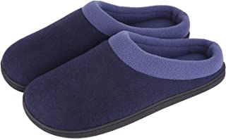 Men's Woolen Fabric Memory Foam Anti-Slip House Slippers, Autumn Winter Breathable Indoor Shoes
