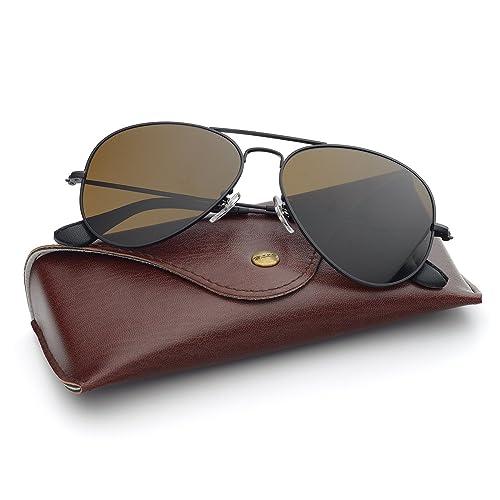 5cf3bb7d58c Bnus corning natural glass lenses aviator polarized sunglasses for men  women italy made