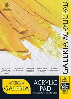 W&N : Galeria : Acrylic Pad : 10x7in (25x18cm) : 300gsm : 15 Sheets