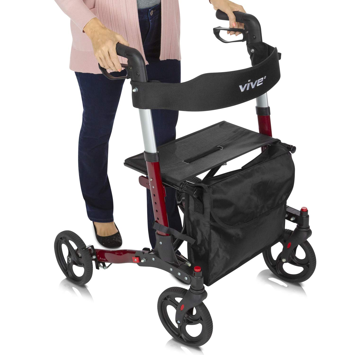 Vive Folding Rollator Walker Transport