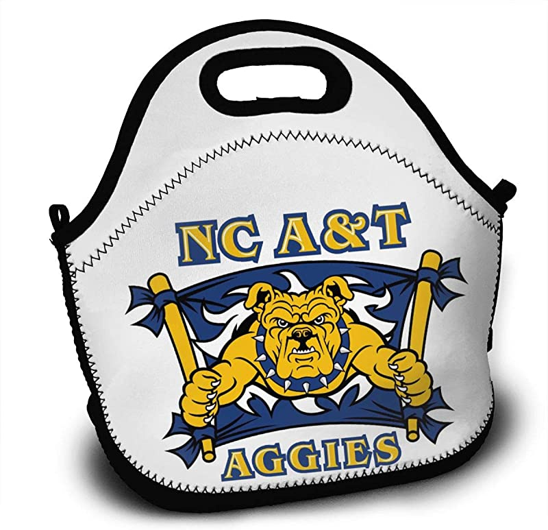 OJPOGHU NC North Carolina A T State University Aggies Lunchboxes Insulated Lunch Tote Bags For Outdoor School Picnic Travel