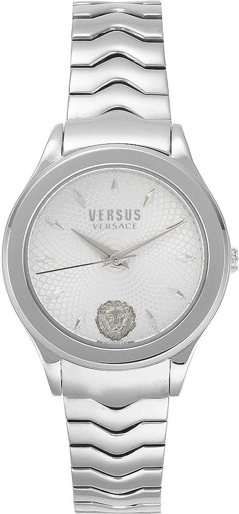 Versus versace orologio da donna in acciaio inossidabile e quadrante  arricchito da un sofisticato guilloche VSP560618