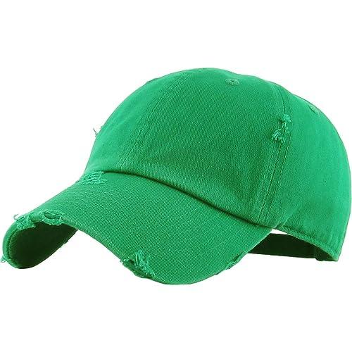 5c66ce51fea KBETHOS Vintage Washed Distressed Cotton Dad Hat Baseball Cap Adjustable  Polo Trucker Unisex Style Headwear