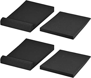 F Fityle Studio Monitor Isolation Pads Suitable for Speakers, Acoustic Foam for Significant Sound Improvement, Prevent Vib...