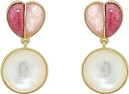 12K Soft Polish Gold/Pink Aventurine/Spurite/Ivory Pearl