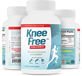 Knee Free – Extra Strength Focused Formula for Knee Pain Relief – Joint Health with Glucosamine, Boswellia and Chondroitin...
