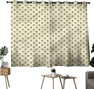 Alexandear Print Darkening Curtains Grommet Curtain Door Panel Geometric,Soft Colors Ornaments Drapes/Draperies W84 x L72