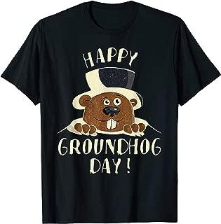 Vintage Funny Groundhog Woodchuck Gift Happy Groundhog Day T-Shirt