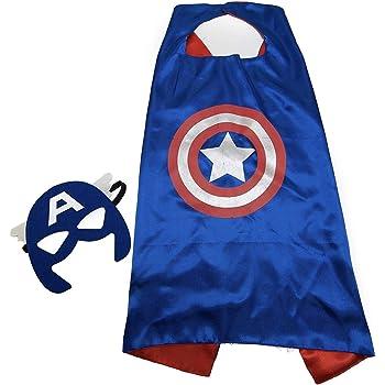 Maribus-FL Superhero Capes and Masks for Kids - Satin Capes and Felt Masks for Boys and Girls